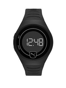 puma-puma-black-digital-dial-black-pu-strap-watch