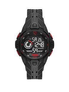 puma-puma-black-and-red-detail-digital-dial-black-pu-strap-watch