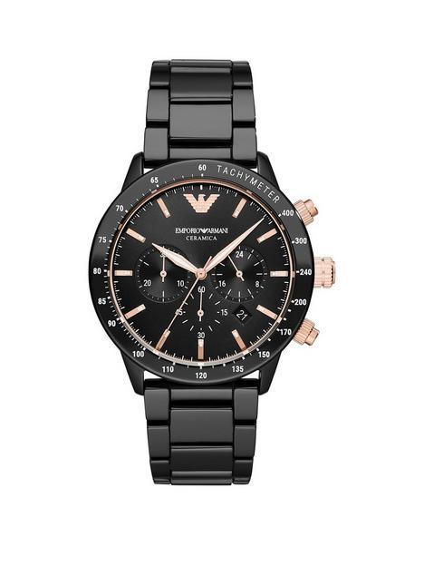 emporio-armani-black-and-rose-gold-detail-chronograph-dial-black-ceramic-strap-mens-watch