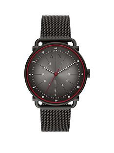 armani-exchange-armani-exchange-rocco-black-stainless-steel-mesh-black-sunray-dial-watch