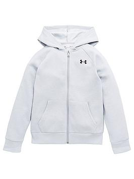 under-armour-rival-cotton-full-zip-hoodie-greyblack