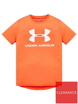 under-armour-childrensnbspsportstyle-logo-short-sleeved-t-shirt-red