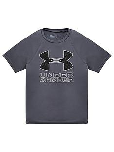 under-armour-childrens-tech-hybrid-printed-fill-short-sleeved-t-shirt-greywhite