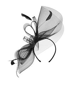 accessorize-rhea-large-crin-fascinator-black