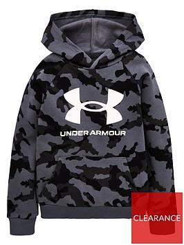 under-armour-rival-fleece-pullovernbsphoodie-blackwhitenbsp