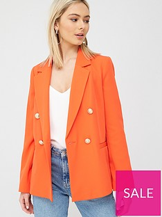 river-island-double-breasted-blazer-red