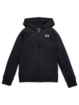 under-armour-rival-cotton-full-zip-hoodie-blackwhite