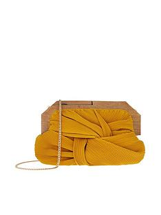 accessorize-brooke-pleated-frame-clutch-yellow