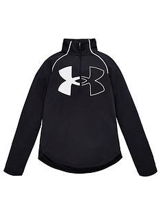 under-armour-childrens-uanbsptech-graphic-logo-half-zip-top-black-white
