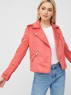 river-island-suedette-biker-jacket--pink