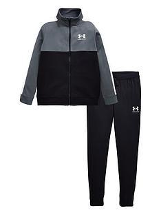 under-armour-colour-block-knit-track-suit-blackwhitenbsp