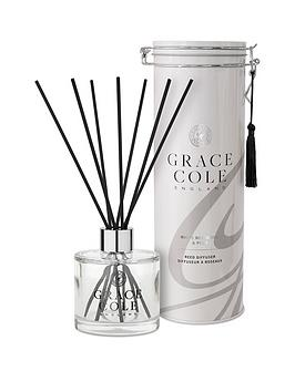 Product photograph showing Grace Cole White Nectarine And Pear 200 Ml Reed Diffuser