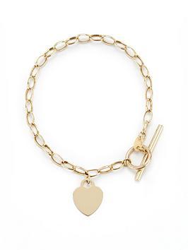 love-gold-9ct-gold-heart-t-bar-bracelet