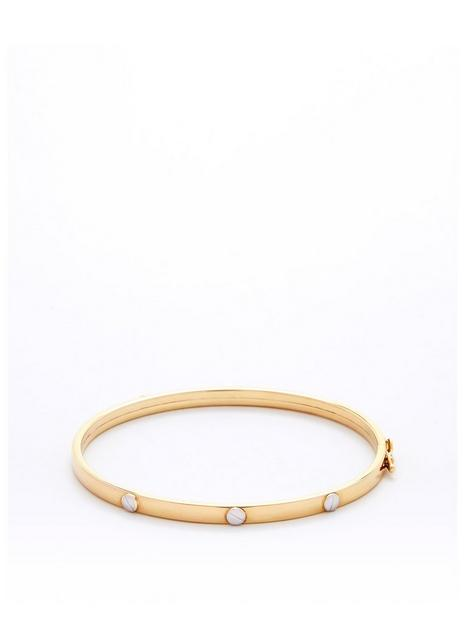 love-gold-9ct-gold-screw-detail-bangle
