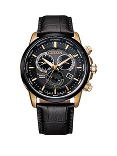 citizen-citizen-eco-drive-calibre-leather-brown-strap-black-dial-watch