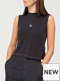 calvin-klein-jeans-sleeveless-mock-neck-cupro-tee-black