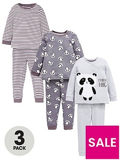 v-by-very-boys-3-pack-monocrome-panda-sunggle-fit-pj-set-grey