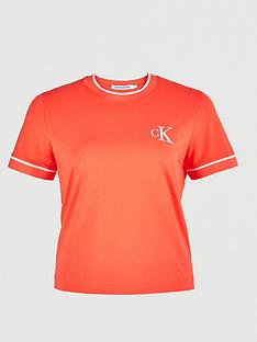 calvin-klein-jeans-plus-ck-embroidery-tipping-t-shirt-pink