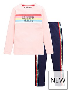 v-by-very-girls-rainbow-stripe-legging-pjnbspset-pink-navy
