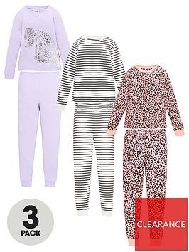 v-by-very-girls-3-pack-leopard-and-stripenbspsnuggle-fit-pyjama-set-multi