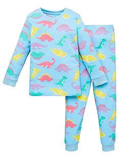 v-by-very-girls-dino-snuggle-fit-pj-set-blue