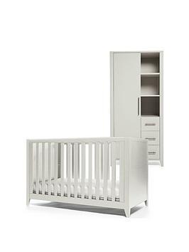 mamas-papas-melfi-cot-bed-and-storage-wardrobe-grey
