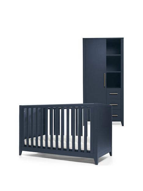 mamas-papas-melfi-cot-bed-and-storage-wardrobe-midnight-blue