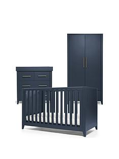 mamas-papas-melfi-cot-bed-dresser-changer-and-wardrobe-midnight-blue