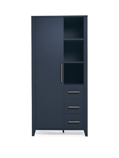 mamas-papas-melfi-storage-wardrobe-midnight-blue