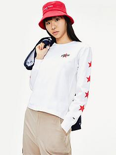 tommy-jeans-star-sleeve-long-sleeve-top-whitenbsp