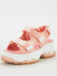 tommy-jeans-sporty-chunky-sandals-peach