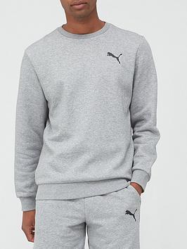 puma-essential-logo-crew-sweatshirt-grey