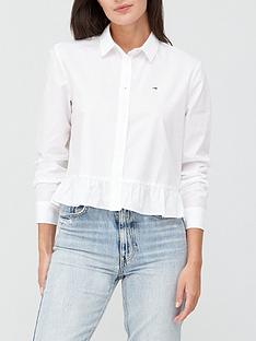 tommy-jeans-frill-detail-long-sleeve-blouse-white