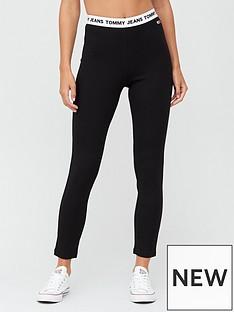 tommy-jeans-branded-waistband-leggings-black