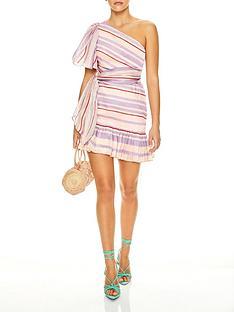talulah-we-found-love-sweet-stripe-print-one-shoulder-mini-dress-lilac