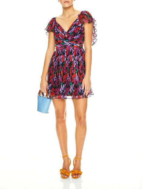 talulah-cosmo-floral-print-mini-dress-redpurple