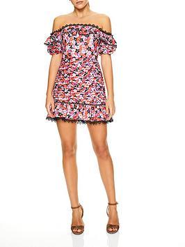 talulah-kiss-me-daisy-days-floral-print-off-shoulder-mini-dress-multicolour
