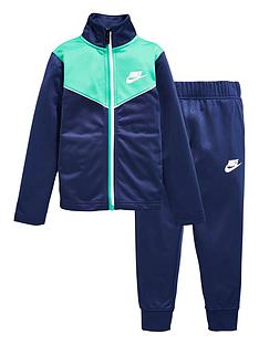 nike-younger-boys-two-tone-zipper-tricot-set-navy