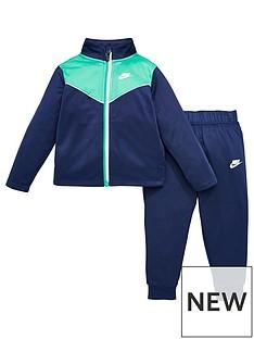 nike-infant-boys-2-tone-zipper-tricot-set-navy