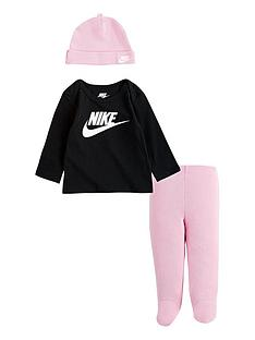 nike-younger-babynbspnike-footed-pant-3-piece-set-pinkblack