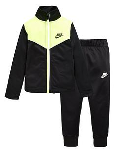 nike-younger-boysnbsptwo-tone-zipper-tricot-set-black