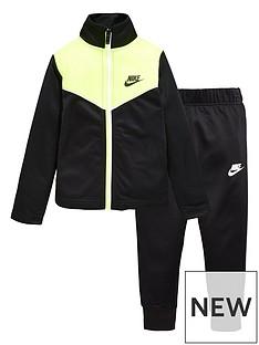nike-younger-boysnbsptwo-tone-zipper-tricot-set-black