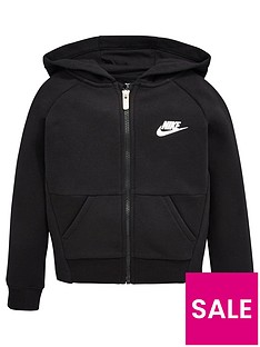nike-younger-girls-g-nswnbsppe-fleecenbspfull-zip-hoodie-black