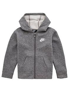 nike-younger-boys-club-fleece-full-zip-hoodie-grey