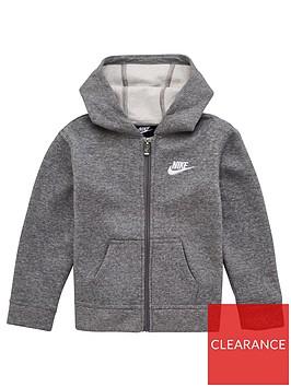 nike-younger-boys-club-fleece-full-zip-hoodie-grey