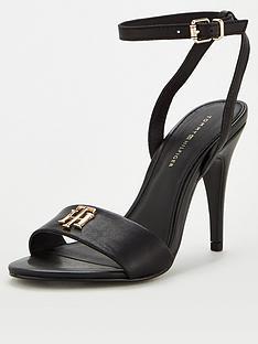 tommy-hilfiger-th-hardware-high-heel-sandal-black