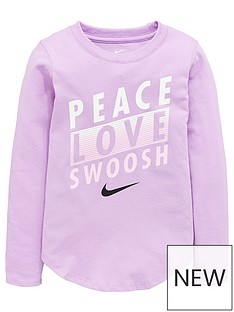nike-younger-girls-peace-love-swoosh-long-sleevenbsptee-purple