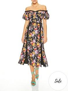 talulah-mimosanbspfloral-print-off-shoulder-midi-dress-black