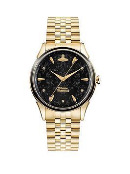 vivienne-westwood-vivienne-westwood-black-lace-dial-gold-stainless-steel-bracelet-ladies-watch