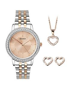 sekonda-watch-pendant-necklace-and-earrings-gift-set